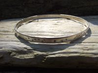 recycled silver dotty bangle