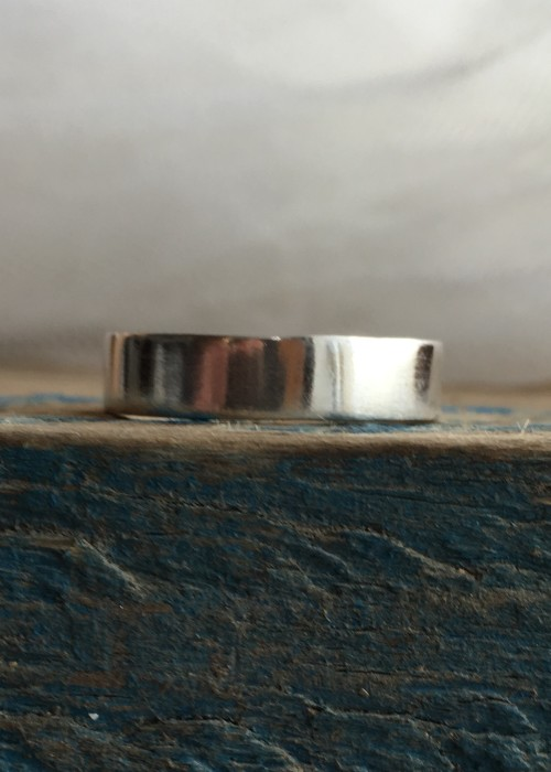 5 mm recycled silver lightweight band ring