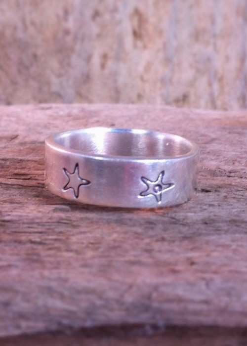 Starfish band ring