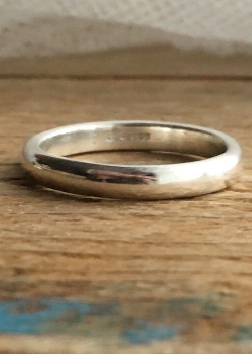 3mm dshaped band ring