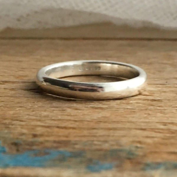 3mm d shaped band ring