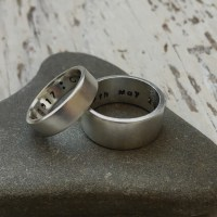 satin recycled silver ring