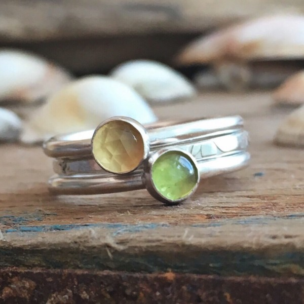 Gorse on the Coast Path Stacking Rings
