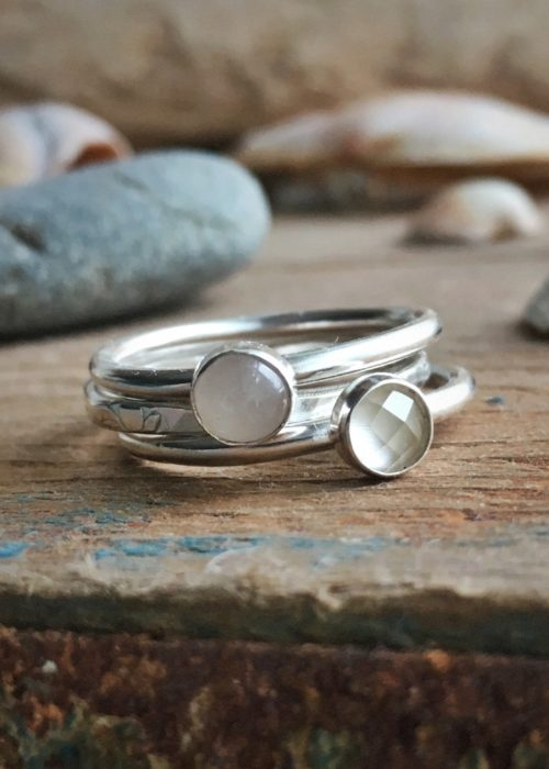 Spring flowers on the Coast Path Stacking Rings