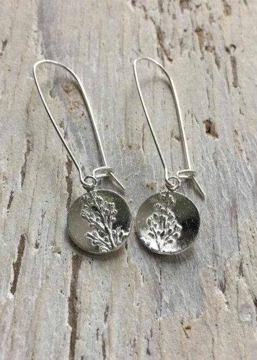 sargassum seaweed long drop earrings