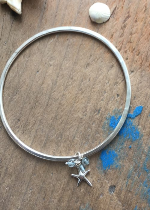 Starfish Charm Bangle