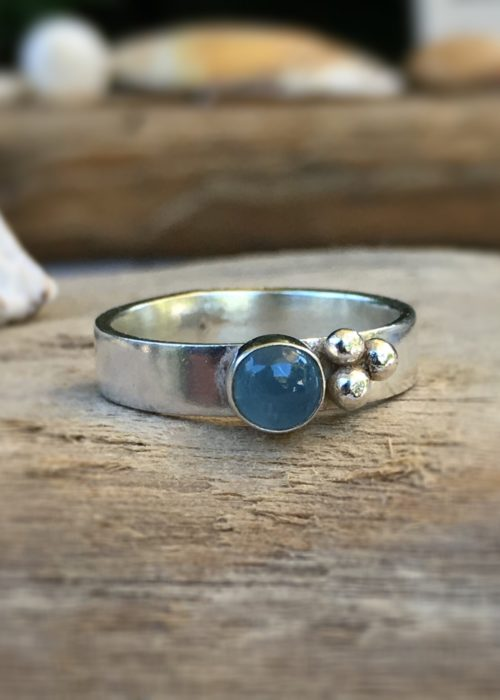 Rockpools Aquamarine ring