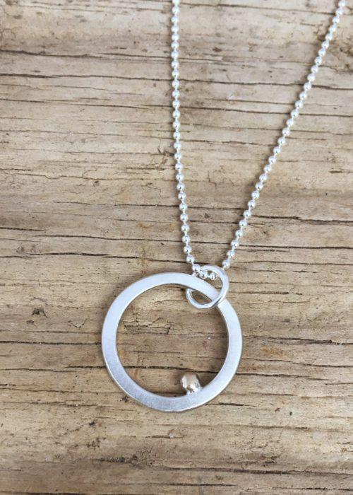 Drop of golden sun ring pendant