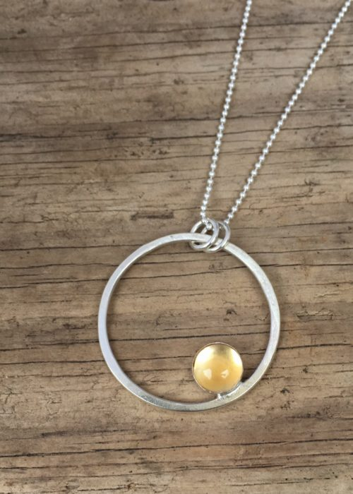 sunshine circle pendant