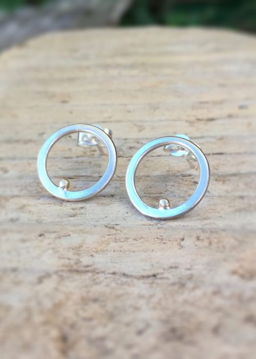 drop of golden sun ring earrings