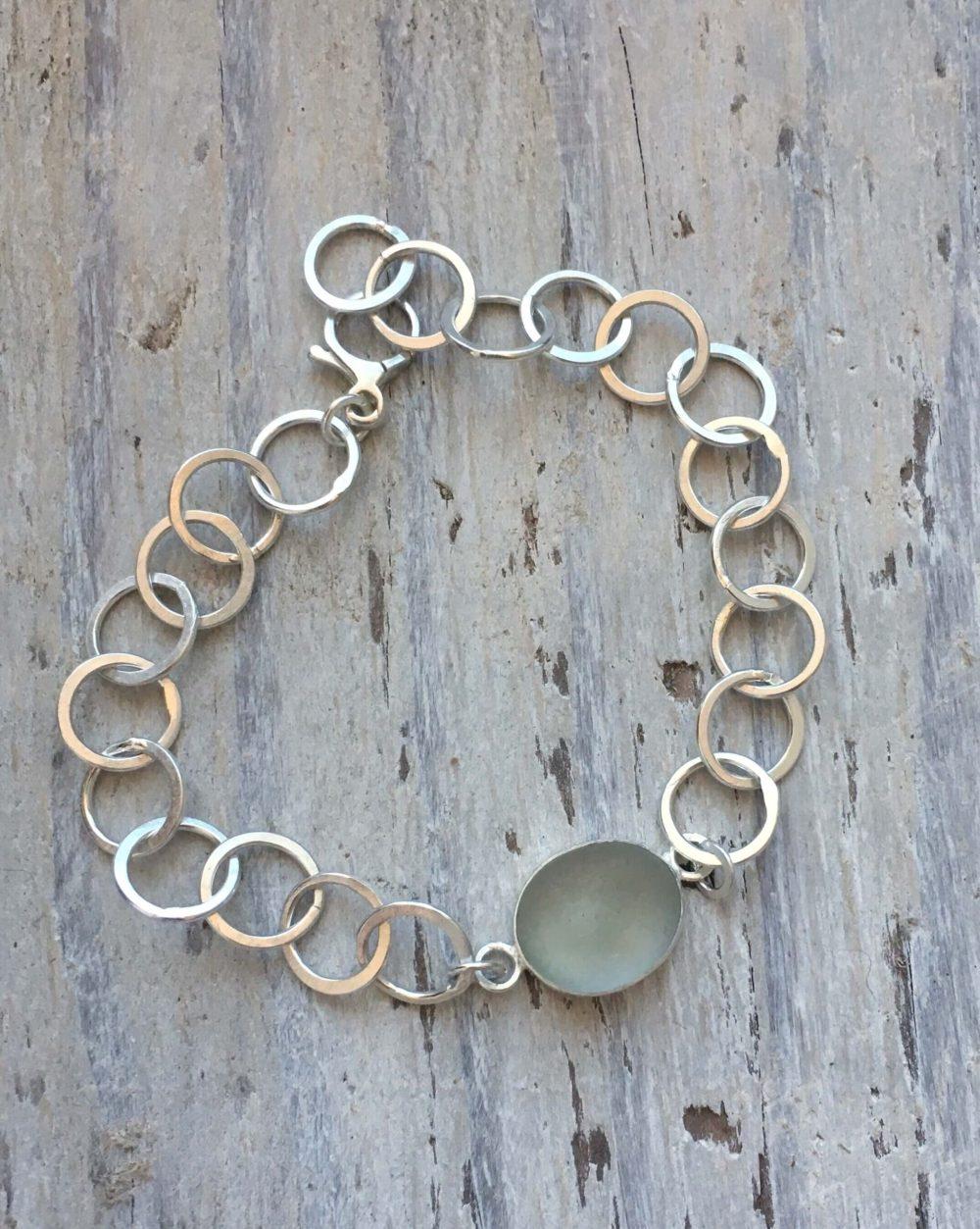 sea mist sea glass bracelet