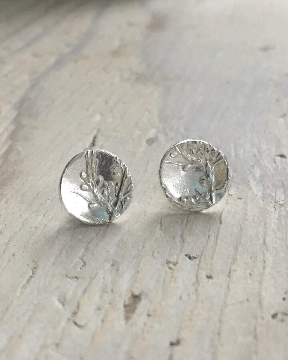 Sargassum Seaweed Stud Earrings