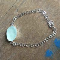 sea foam sea glass bracelet