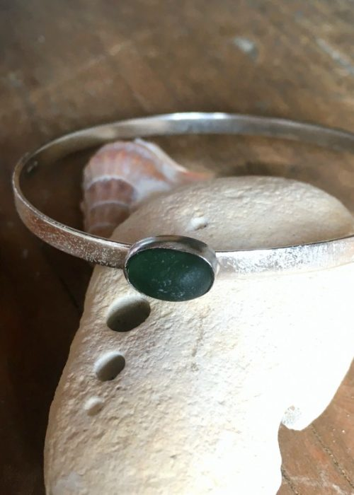 sea glass sand bangle