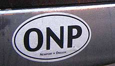 'Oregon Newport Parks' sticker