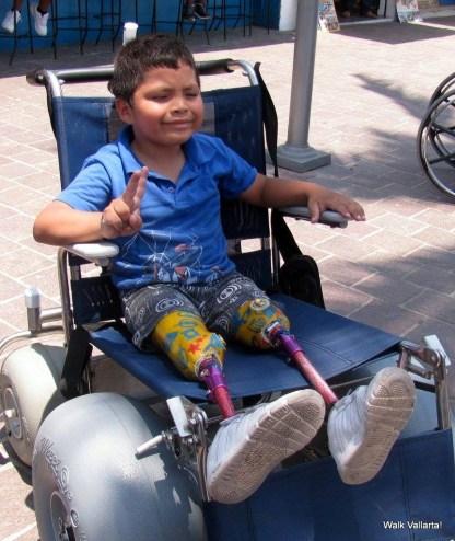The beach wheelchair is so cool.