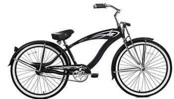 Micargi GTS Beach Cruiser Bike, Black Falcon, 26-Inch