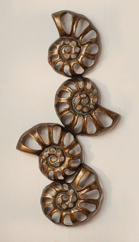 Metal Nautilus Wall Decor