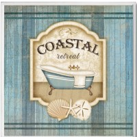 Coastal Retreat Bathroom Wall Plaque