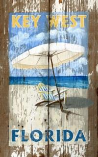 Umbrella Rustic Wood Wall Art