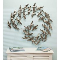 Metal Birds Wall Decor - Beach Dcor Shop