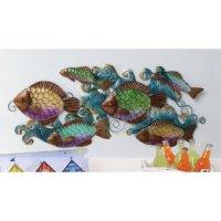 School of Fish Glass Wall Decor