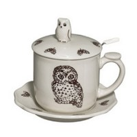 Owl Tea Cup Set