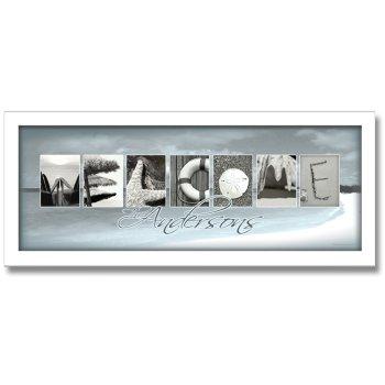 welcome beach letter art