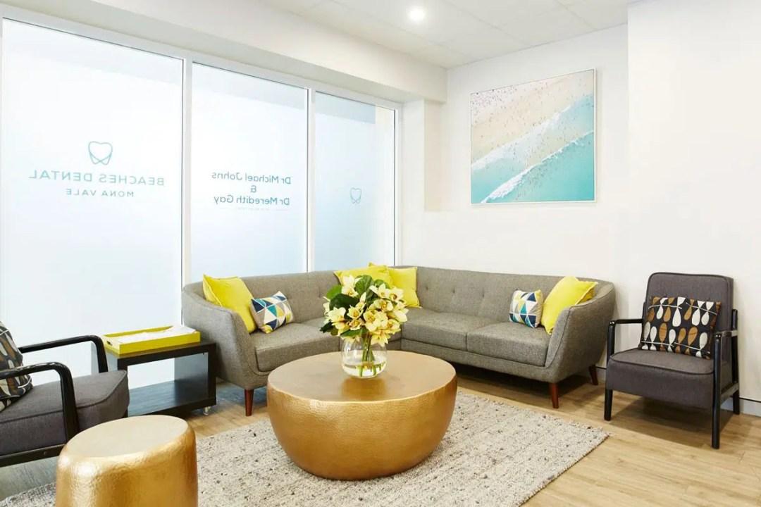 the reception area of Beaches Dental Mona Vale