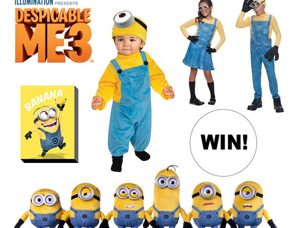 WIN  a Despicable Me 3 Minions prize pack