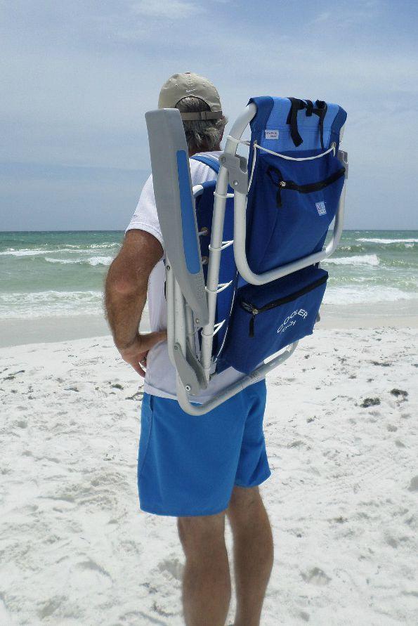 Backpack Beach Chair  Lightweight Portable Cooler
