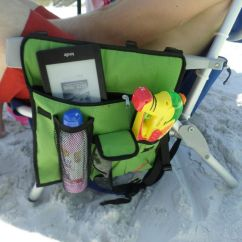 Backpack Cooler Beach Chair Plush Leather Office Folding With A Bag, Straps, And Canopy