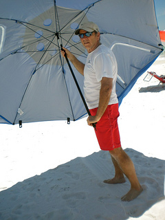 Large Beach Umbrella  Beach Umbrella Tent for All Day Shade