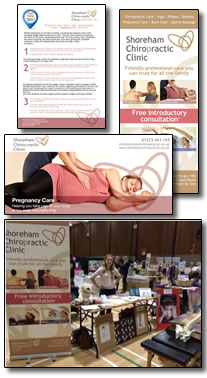 Worthing Pregnancy Fair attended by the Shoreham Chiropractic Clinic