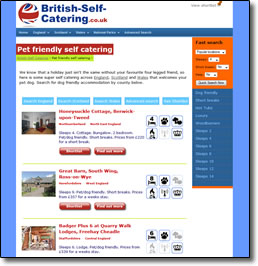 Data driven website British Self Catering