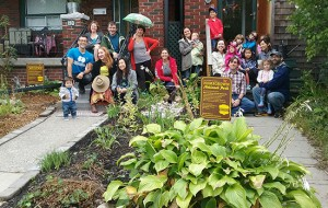 A dozen houses in the East End recently built rain gardens in their front yards through a grant from the Toronto Foundation Vital Innovations Award. PHOTO: Martina Rowley