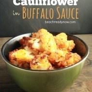 Cauliflower Roasted in Buffalo Sauce