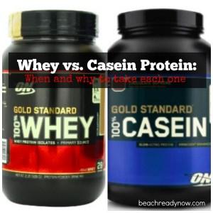 Protein Powder Whey vs. Casein