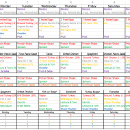 21 Day Fix Schedule