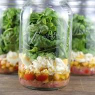 Greek Salad in Mason Jars