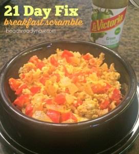 21 Day Fix Breakfast Scramble