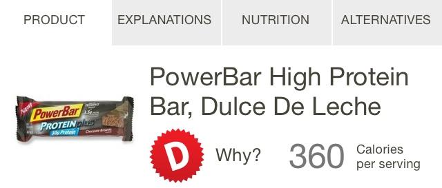 PowerBar Protein Bar Rating
