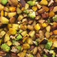Roasted Acorn Squash, Potatoes and Broccoli
