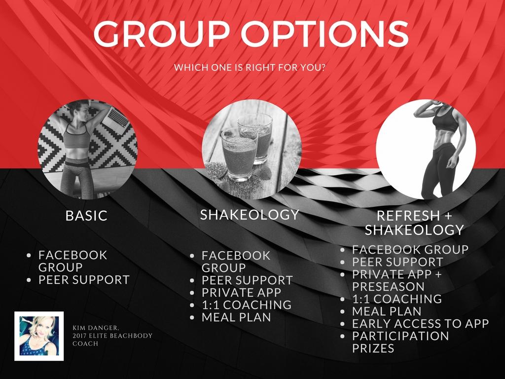 Shaun T Week Challenge Group Options