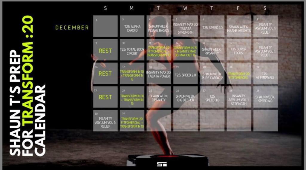Transform :20 Prep / Hybrid Countdown Workout