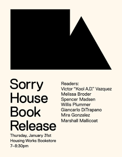 sorry house book launch and reading