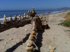 Beach Rock Art Photo, Morro Bay California