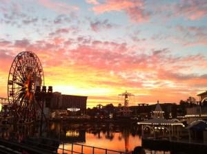 Sunset at Disney California Adventure