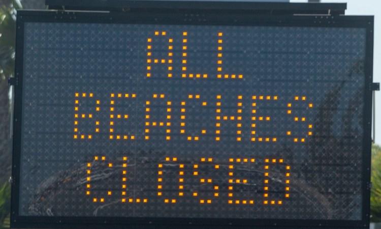 Beaches Closed in OC Sign
