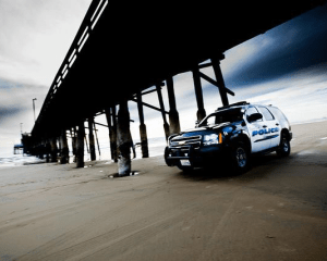 Newport Beach Police at Pier